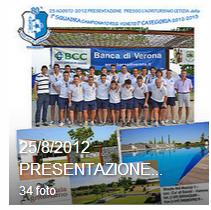 25 Agosto 2012 Presentazione I SQUADRA Campionato I° CATEGORIA anno 2012-2013