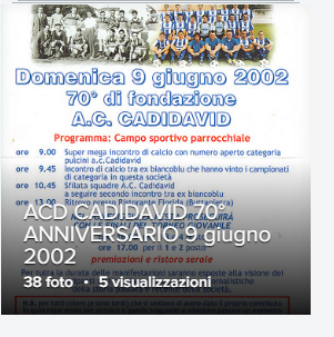 ACD CADIDAVID Festeggiamenti 70° anniversario 9 Giugno 2002
