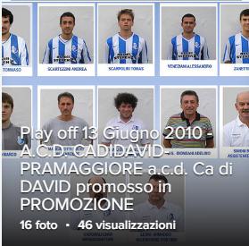 Play off 13 Giugno 2010 - A.C.D. CADIDAVID-PRAMAGGIORE  ACD Ca di DAVID promosso in PROMOZIONE